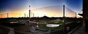 Sun setting over the Giants Minor League Complex in Scottsdale, AZ